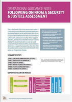 ISSAT Assessment OGN: Following on from a Security and Justice Assessment