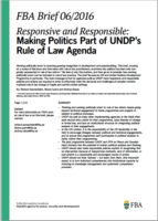 FBA politics UNDP rule of law